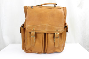 RAW HIDE COLOMBIAN LEATHER BACKPACK