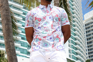 Paisley Polo Shirt - 6 B