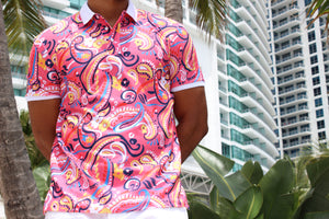 Paisley Polo Shirt - 9 B