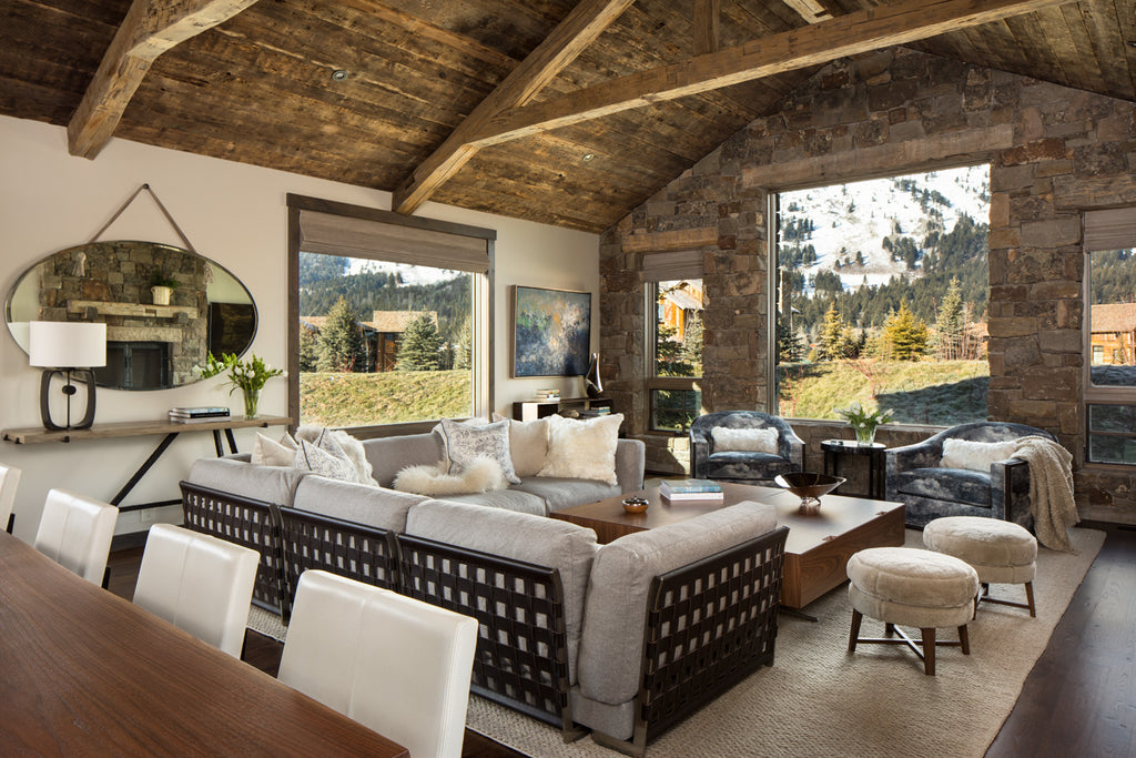 Main Living Space Alpin Haven  Snake River Interiors
