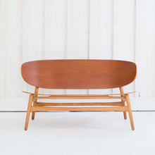 Danish Shell Settee Bench