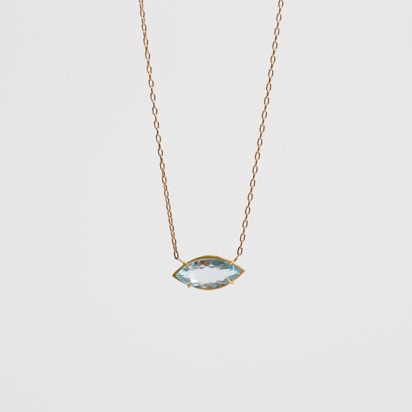 Rosanne Pugliese <br>Aquamarine Third Eye Pendant necklace
