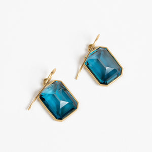 Lola Brooks<br> London Blue Topaz Emerald Cut Drops