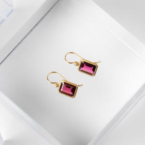 Lola Brooks<br> Emerald Cut Garnet Drops