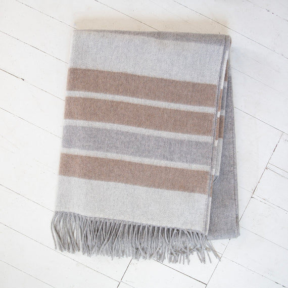 Cashmere Striped Throw