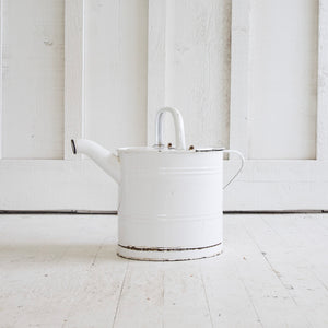 Metal enamel watering can