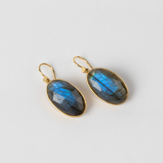 Lola Brooks<br> Oval Labradorite Drops