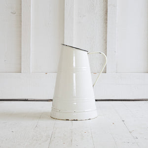 Metal enamel pitcher