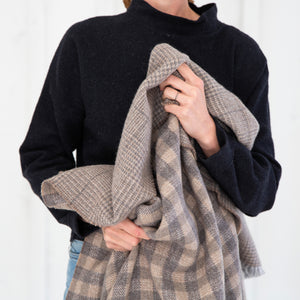 Plaid Cashmere Throw