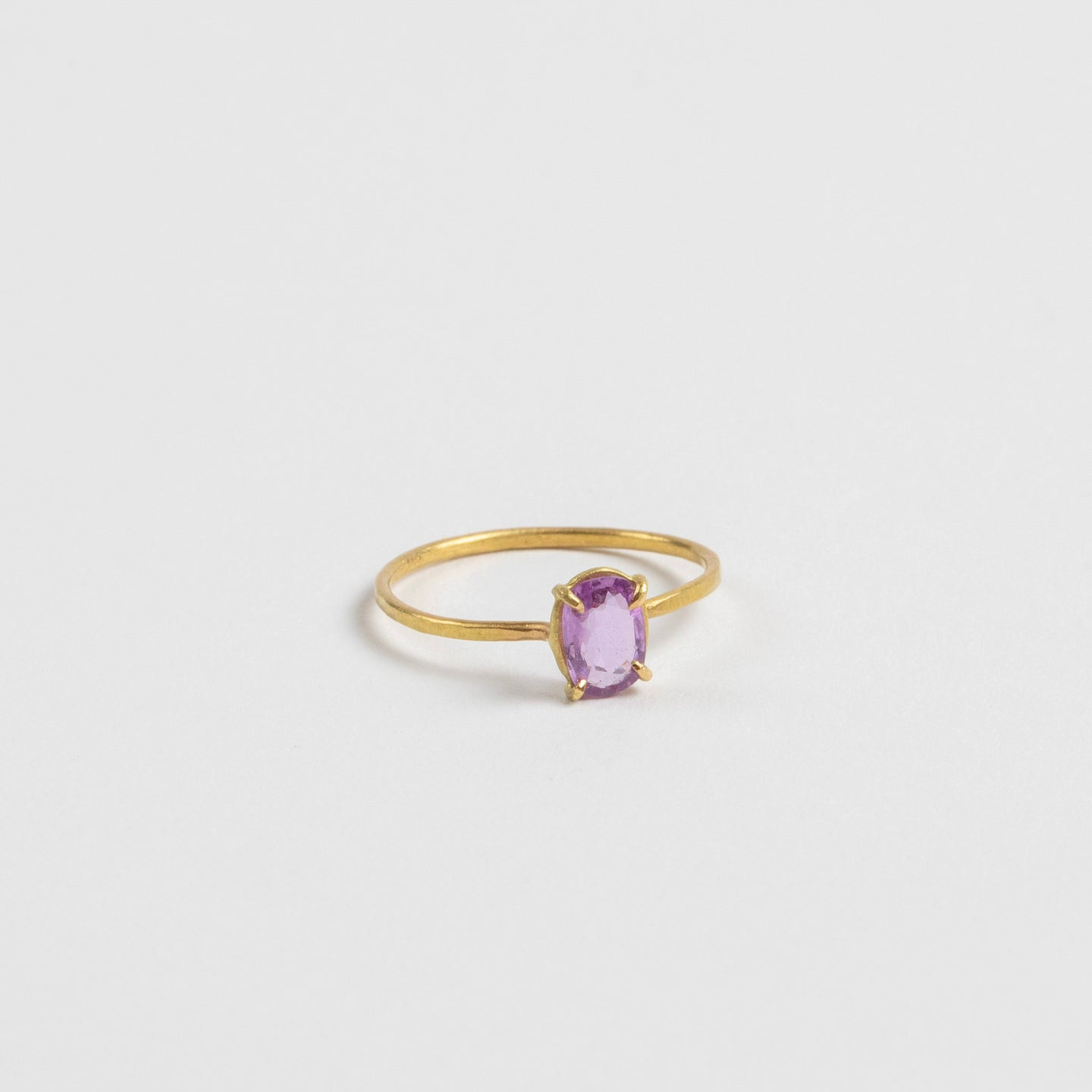 Rosanne Pugliese <br>Mini Pink North-South Sapphire Ring