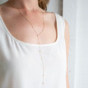 Nina Segal Full Diamond Bezel Lariat in 14K