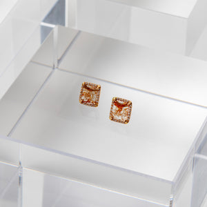 Liven Co <br> One of a kind Diamond Slice Studs