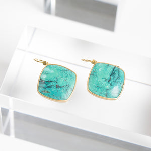 Lola Brooks<br> Tibetan Turquoise Diamonds Drops