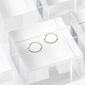 Liven Co <br> Small Pave Diamond Hoops