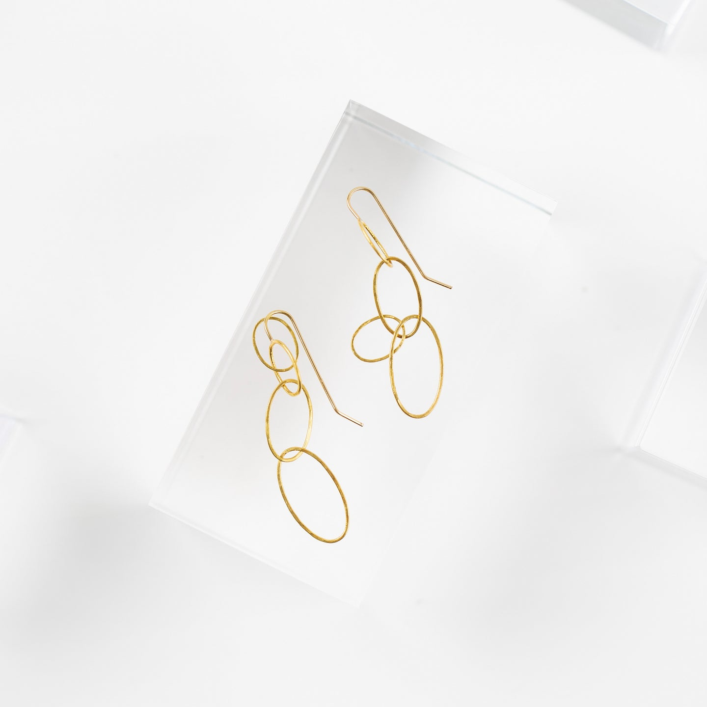 Rosanne Pugliese <br>Gold Triple Oval Earrings