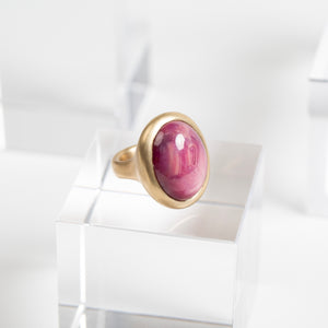 Lola Brooks<br> Oval Ruby Crystal Ring