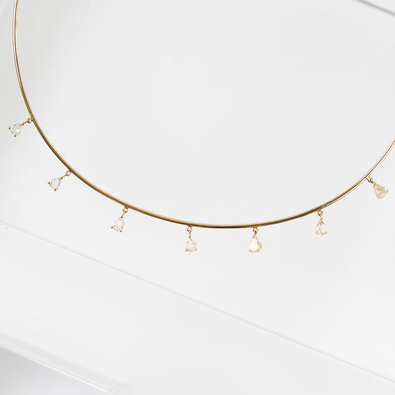 Nina Segal<br>7 Diamond Drop Necklace