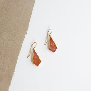 Lola Brooks<br>18K Rusty Dendritic Agate Kite Earrings