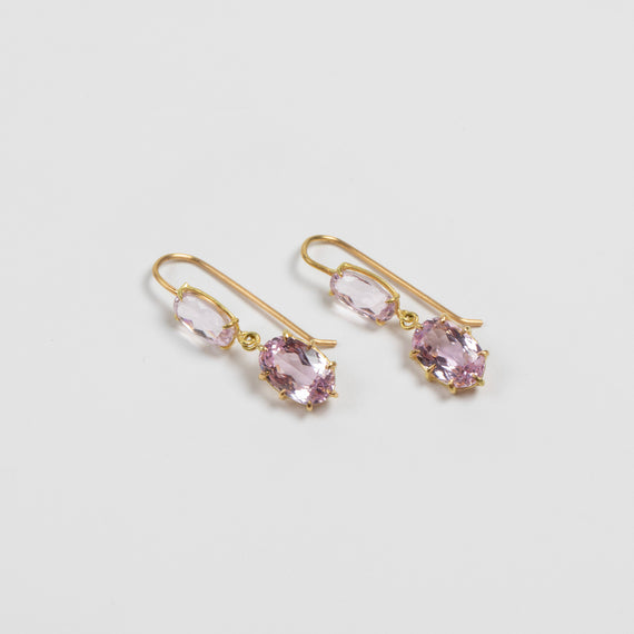 Rosanne Pugliese <br>Kunzite Double Drop Earrings
