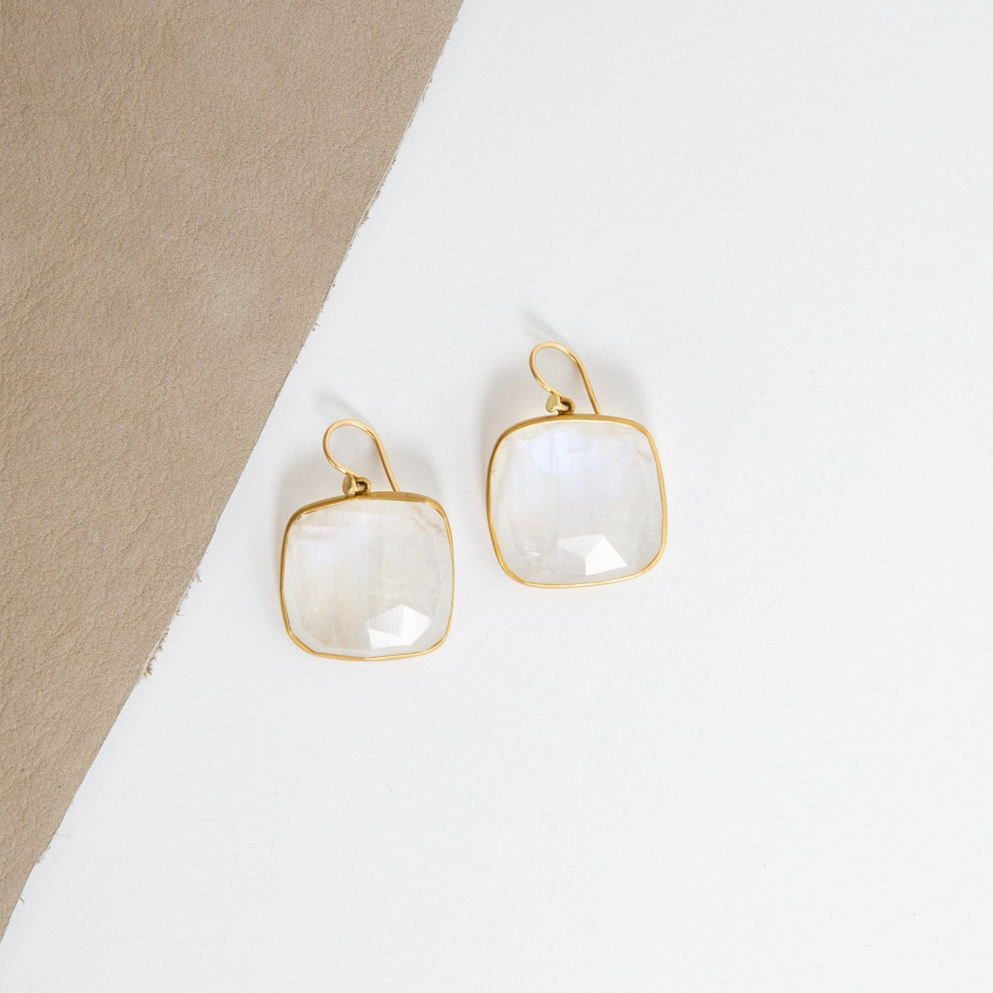Lola Brooks<br>22K Moonstone Cushion Earrings