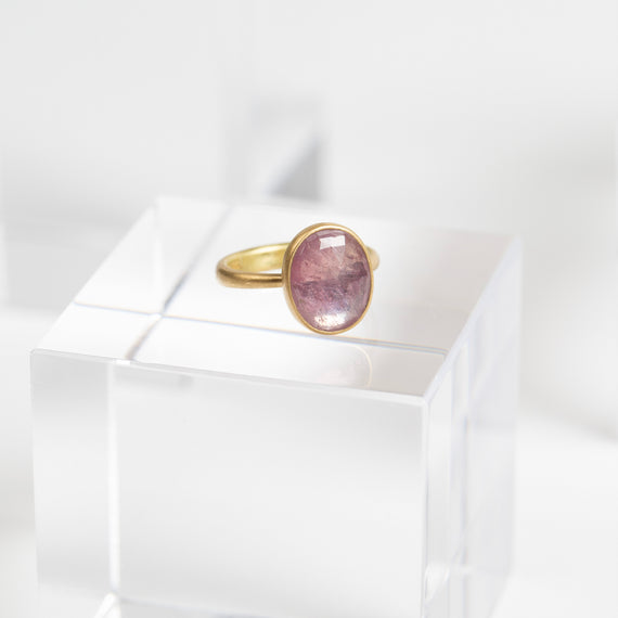 Lola Brooks<br> Oval Natural Pink Sapphire Ring