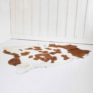 Brown and White Cowhide