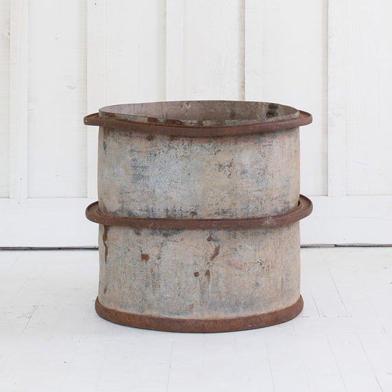 Pair of French Vintage Barrels