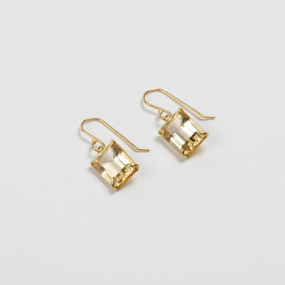 Rosanne Pugliese <br> Champagne Citrine Drop Earrings