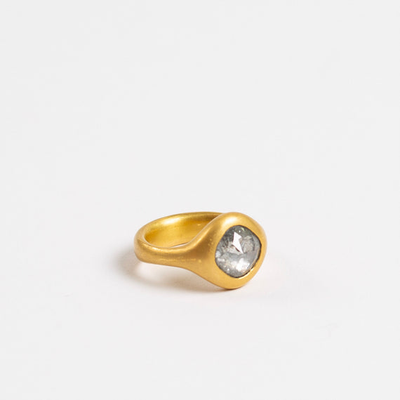 Lola Brooks<br> Grey Cushion Diamond Ring