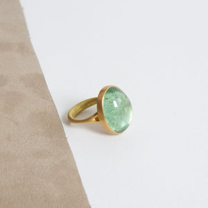 Lola Brooks<br>18K Large Oval Mint Green Tourmaline Ring