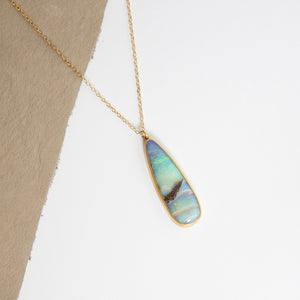 Lola Brooks<br>22K Boulder Opal Tear Drop Pendant