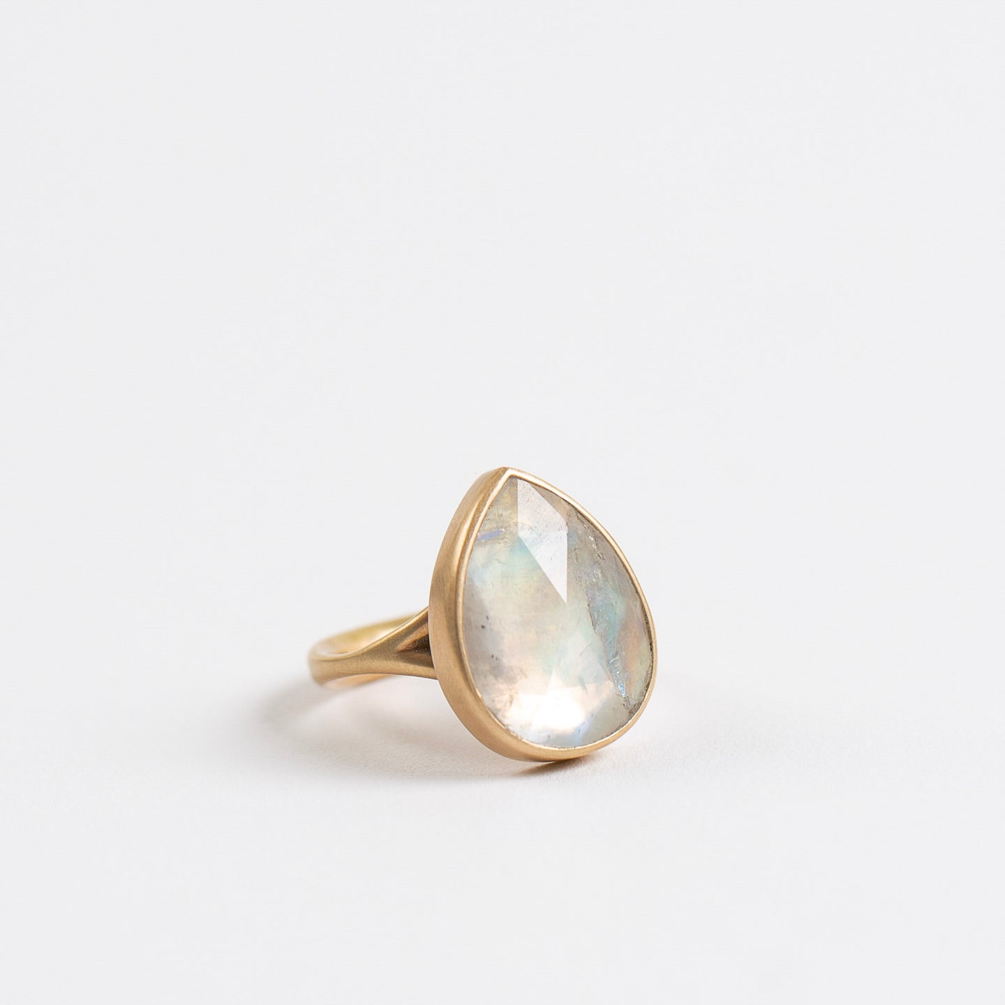 Lola Brooks<br>Grey Moonstone Teardrop Ring