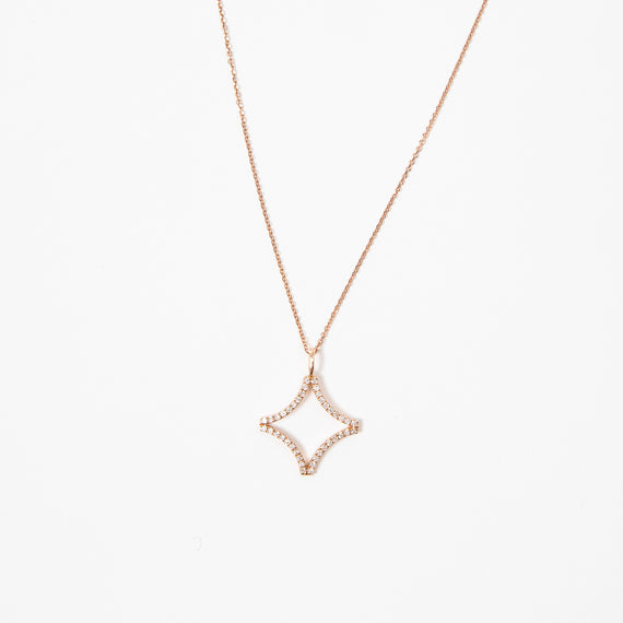 Meredith Marks Sage Small Necklace Rose Gold