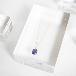 Lola Brooks<br>14K Tanzanite Rectangle Pendant