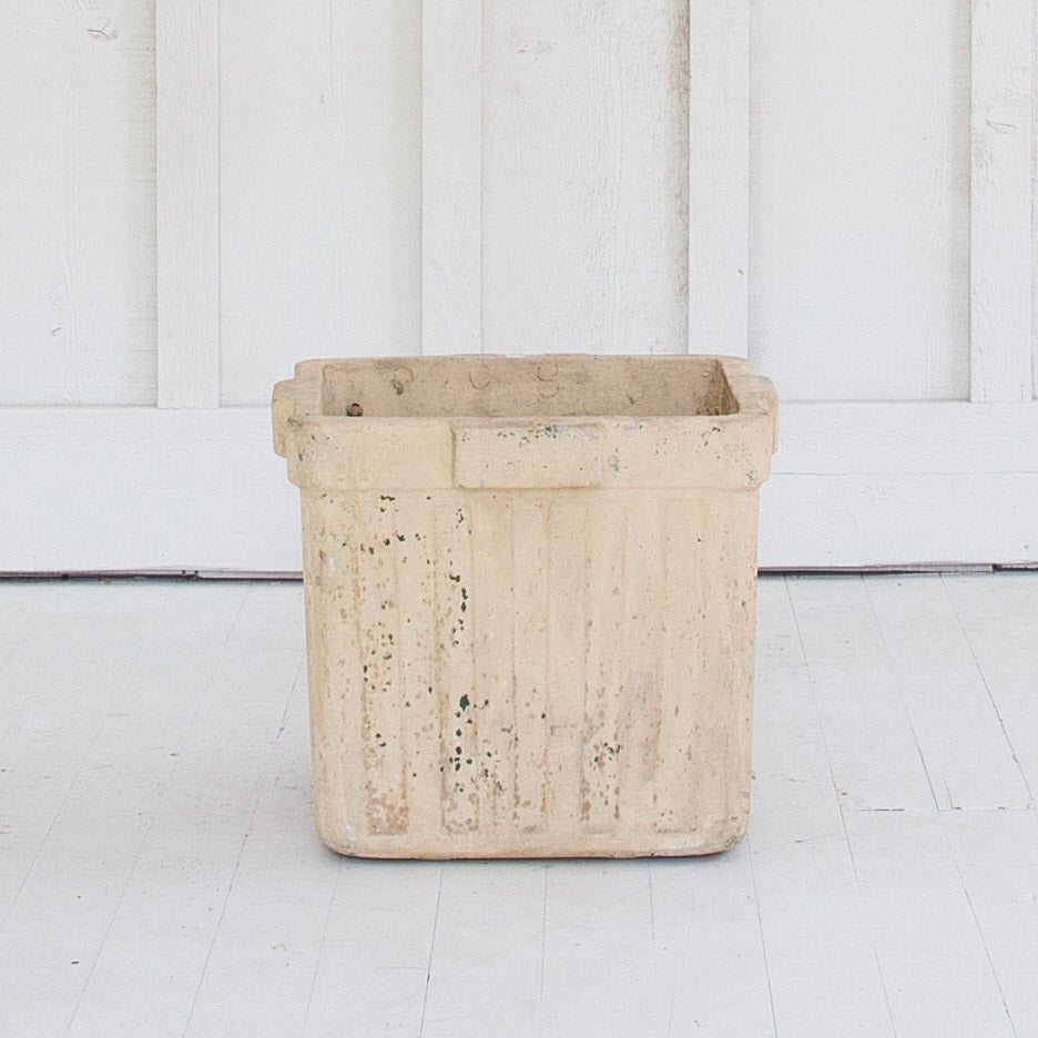 Pair of Square French Plaster Planters