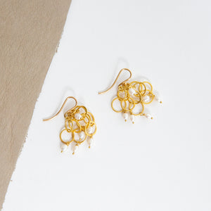 Rosanne Pugliese <br>22K Keshi Pearl Cluster Earrings