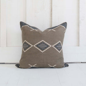 Taupe Charcoal Linen Pillow