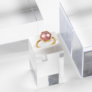 Lola Brooks<br> Hexy Pink Sapphire Ring