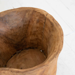 Footed Wooden Planter