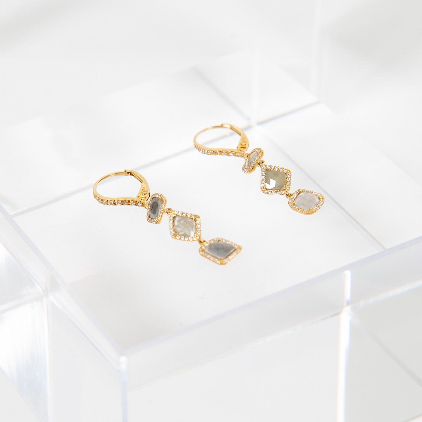 Liven One-of-a-kind Yellow Gold Diamond Earrings