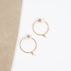 Nina Segal 14kr hoops w/diamond drop