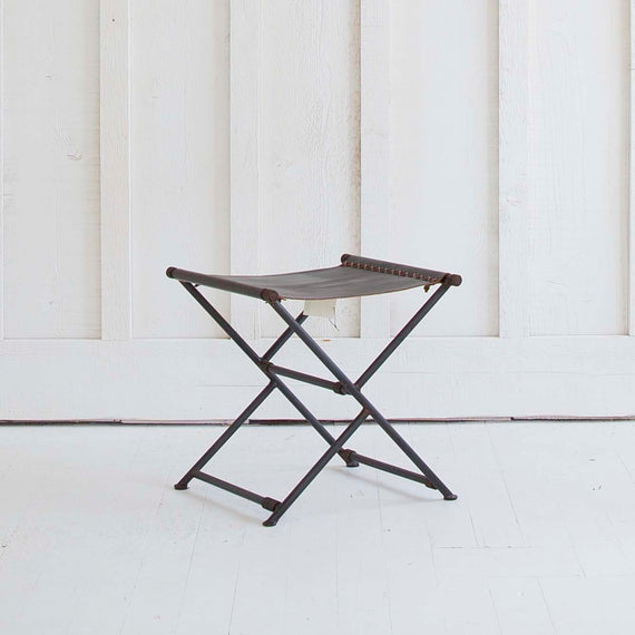 Leather Camp Stool