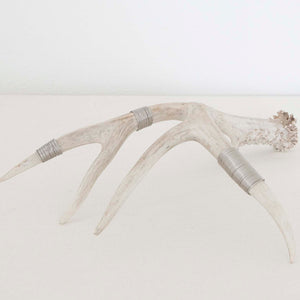 Silver-Wrapped Natural Antler