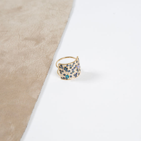 Meredith Marks Stardust Ring 16mm Blue Sapphire