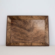 Brown and Black Hide Tray