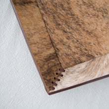 Brown and Black Cowhide Tray
