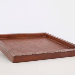 Square Leather Tray