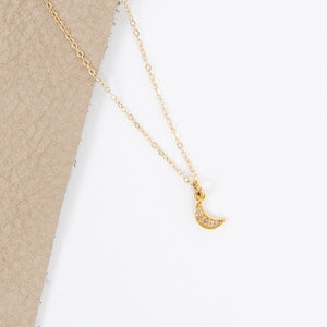 Mirta Tummino Diamond Crescent Moon Necklace
