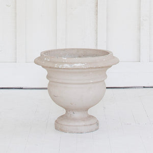 Pair of French Plaster Pedestal Planters