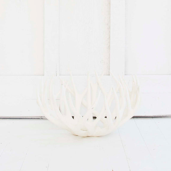 Antler Bowl, White Medium
